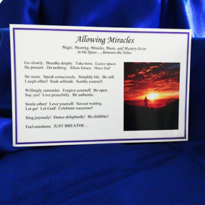 Allowing Miracles Postcards